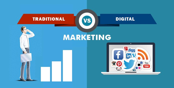 traditional versus digital advertising