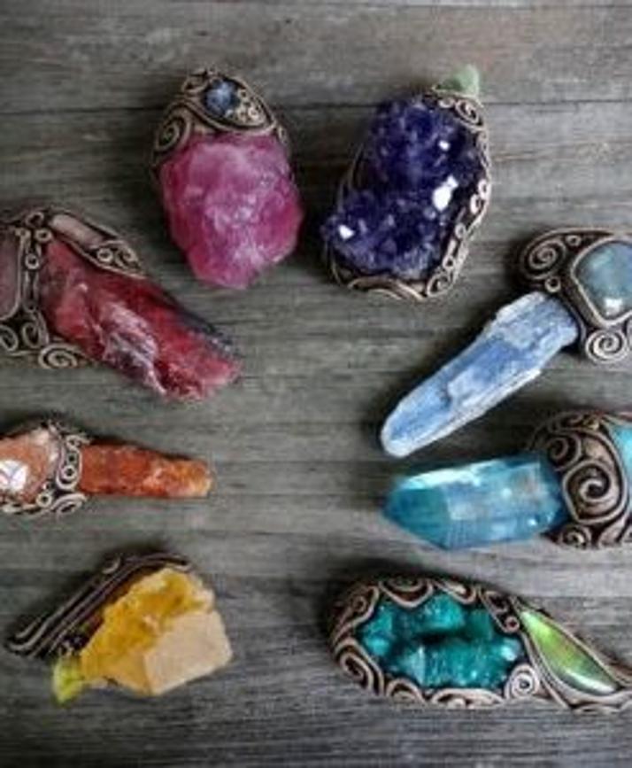 healing crystals yoga